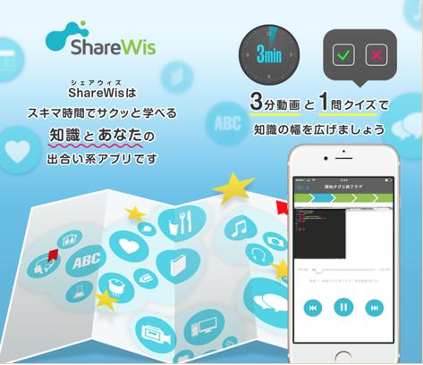ShareWis(シェアウィズ)は、スキマ時間でサクッと学べる知識とあなたの出合い系アプリです。
