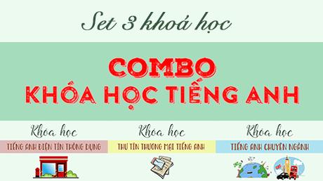 A course image of 【Combo】Khoá học tiếng Anh - Set 3 khoá học